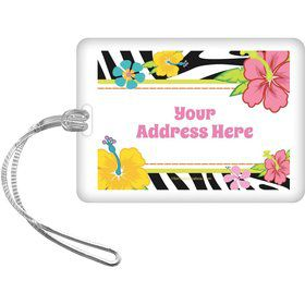 Luau Fun Personalized Luggage Tag (Each)