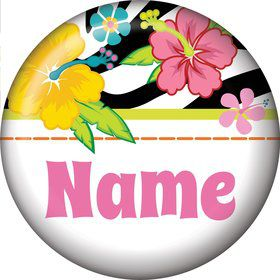 Luau Fun Personalized Mini Button (Each)