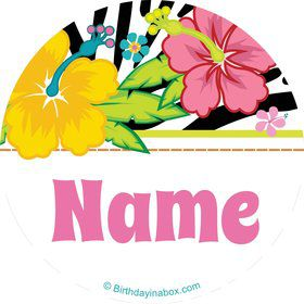 Luau Fun Personalized Mini Stickers (Sheet of 20)