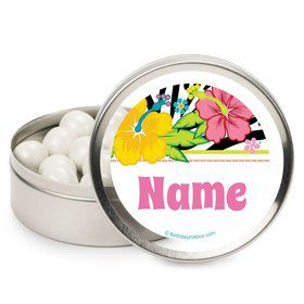 Luau Fun Personalized Mint Tins (12 Pack)