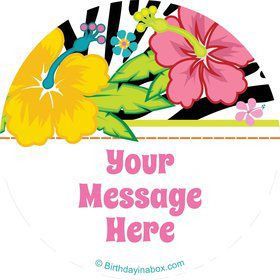 Luau Fun Personalized Stickers (Sheet of 12)