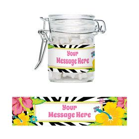 Luau Fun Personalized Swing Top Apothecary Jars (12 ct)