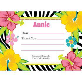 Luau Fun Personalized Thank You (Each)