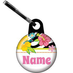 Luau Fun Personalized Zipper Pull (Each)