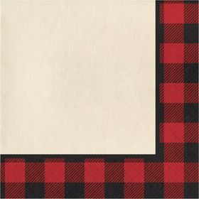 Lumberjack Plaid Luncheon Napkins (16 Count)