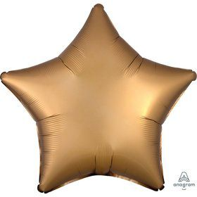 Luxe Sateen 19 Foil Star Balloon - Gold