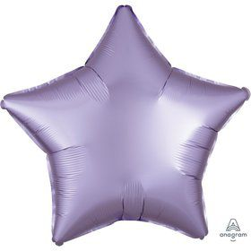 Luxe Sateen 19 Foil Star Balloon - Pastel Lilac