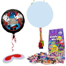 Magic Birthday Pull String Economy Pinata Kit