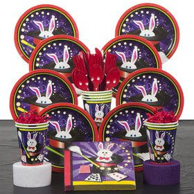 Magic Party Deluxe Tableware Kit Serves 8