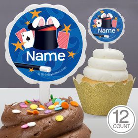 Magic Personalized Cupcake Picks (12 Count)