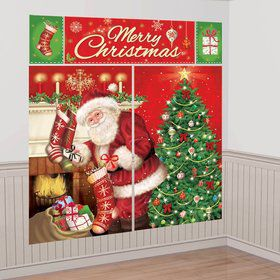 Magical Christmas Scene Setter Wall Decorating Kit (Each)