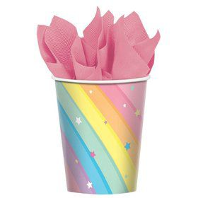 Magical Rainbow Birthday 9oz. Cups