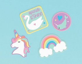 Magical Rainbow Birthday Embroidered Patches (4)
