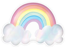 Magical Rainbow Birthday Rainbow Shaped Iridescent Plates (8)