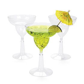 Margarita 10oz. Plastic Glasses (20 Pack)