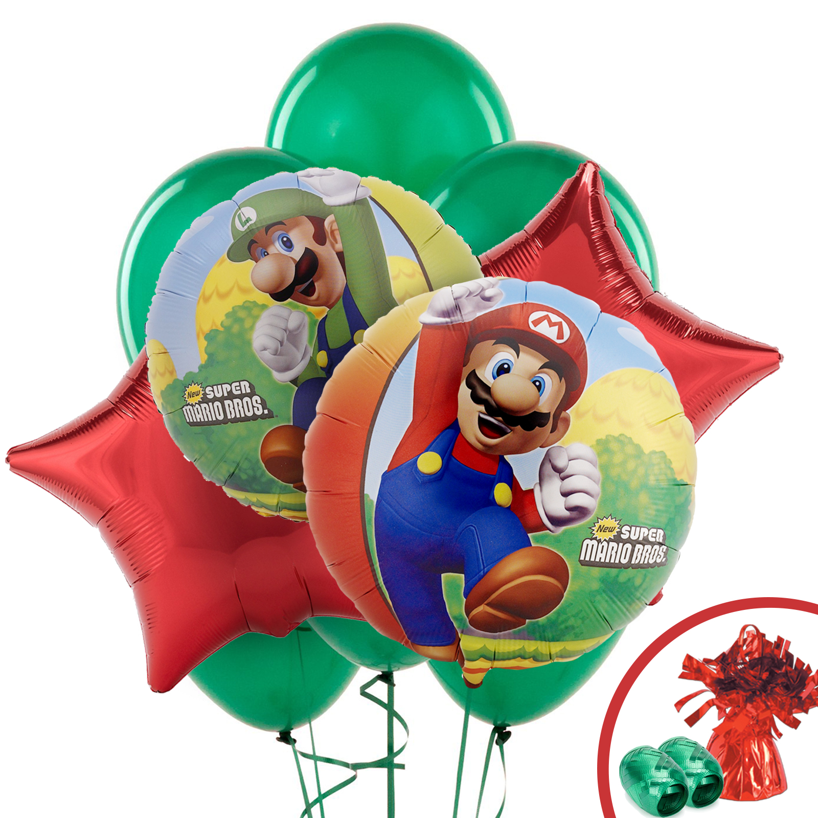 Mario Balloon Bouquet Kit (Each) - Party Supplies BBBK186