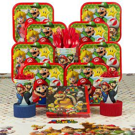 Mario Birthday Party Deluxe Tableware Kit