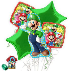 Mario Bros Luigi Balloon Bouquet Kit