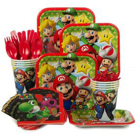Mario Bros. Standard Birthday Party Tableware Kit