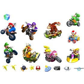 Mario Kart Wii Removable Wall Decorations