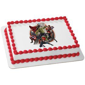 Marvel Avengers Quarter Sheet Edible Cake Topper (Each)