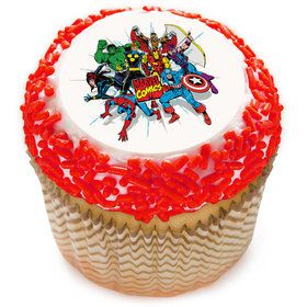 "Marvel Comics 2"" Edible Cupcake Topper (12 Images)"