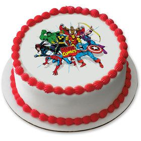 "Marvel Comics 7.5"" Round Edible Cake Topper (Each)"