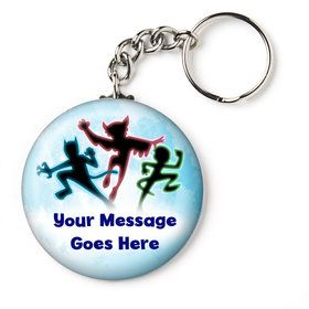 """Masked Heroes Personalized 2.25"""" Key Chain (Each)"""