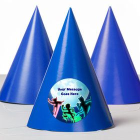 Masked Heroes Personalized Party Hats (8 Count)