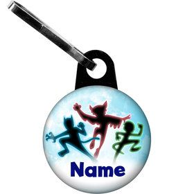 Masked Heroes Personalized Zipper Pull (Each)