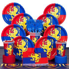 Medieval Birthday Party Deluxe Tableware Kit Serves 8