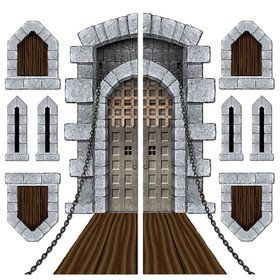 Medieval Castle Door & Window Props (Set Of 9)