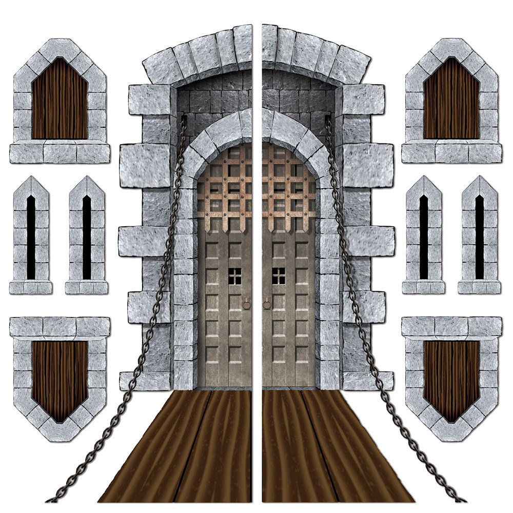 Medieval Castle Door u0026 Window Props (Set Of 9)  sc 1 st  Birthday in a Box & Medieval Castle Door u0026 Window Props - Party Decorations u0026 Supplies ...