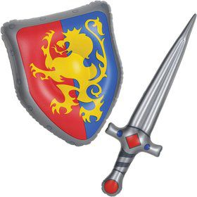 Medieval Inflatable Sword & Shield Set (Each)