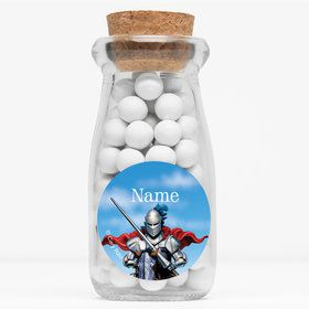 "Medieval Knight Personalized 4"" Glass Milk Jars (Set of 12)"