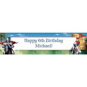 Medieval Knight Personalized Banner (each)