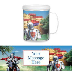 Medieval Knight Personalized Favor Mugs (Each)