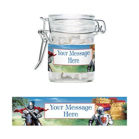 Medieval Knight Personalized Glass Apothecary Jars (10 Count)