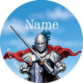 Medieval Knight Personalized Mini Stickers (Sheet of 20)