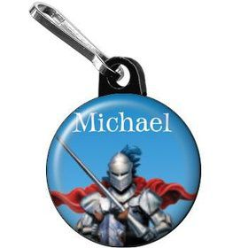 Medieval Knight Personalized Mini Zipper Pull (each)