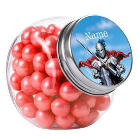 Medieval Knight Personalized Plain Glass Jars (10 Count)