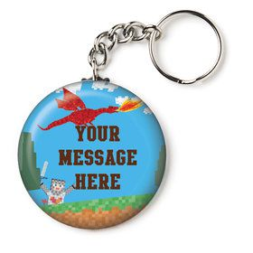 "Medieval Pixels Personalized 2.25"" Key Chain (Each)"