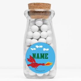 "Medieval Pixels Personalized 4"" Glass Milk Jars (Set of 12)"