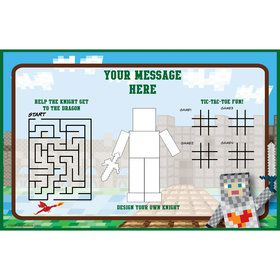 Medieval Pixels Personalized Activity Mat (8 Pack)