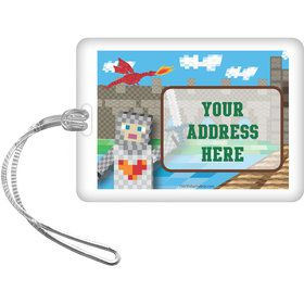 Medieval Pixels Personalized Bag Tag (Each)