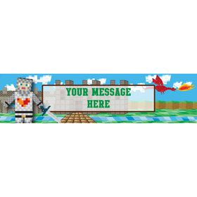 Medieval Pixels Personalized Banner (Each)