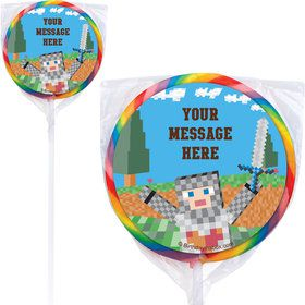 Medieval Pixels Personalized Lollipops (12 Pack)