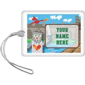 Medieval Pixels Personalized Luggage Tag (Each)