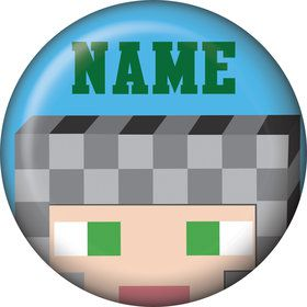 Medieval Pixels Personalized Mini Button (Each)