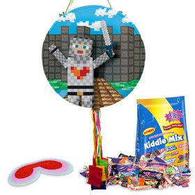 Medieval Pixels Pull String Economy Pinata Kit